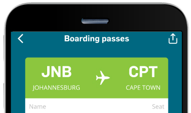 View and share e-boarding passes